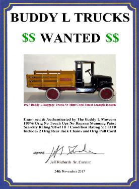 Antique buddy l trucks for sale, Free Buddy L Trucks Appraisals www.buddylcars.com Free Buddy L Dump Truck Value Guide Free Buddy L Fire Truck Price Guide