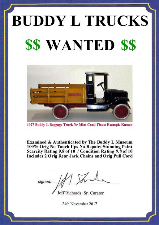 Free Buddy L Trucks Appraisals www.buddylcars.com Free Buddy L Dump Truck Value Guide Free Buddy L Fire Truck Price Guide