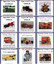 Buying Vintage Toy Collections, toy appraisal, Vintage toy truck value, free toy appraisals, Buying antique toy cars, Buying vintage buddy l toy trucks Free vintage toy appraisal